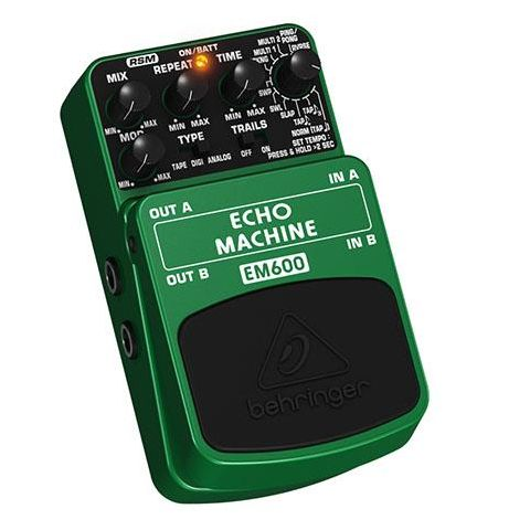 Behringer Echo Machine EM600 Echo Modeling Effects Pedal, 1k Ohms Output Impedance  by Behringer