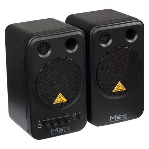 Behringer MS16 2-Way Active Nearfield Multimedia Monitor System, Pair  by Behringer