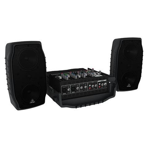 Behringer Europort PPA200 200-Watt 5-Channel Portable PA System with Wireless Microphone Option, KLARK TEKNIK Multi-FX Processor and FBQ Feedback Detection  by Behringer