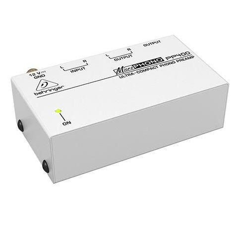 Behringer Microphono PP400 Ultra-Compact Phono Preamp, 50W Output Impedance, RIAA Frequency Response  by Behringer