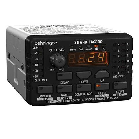 Behringer FBQ100 Shark Automatic Feedback Destroyer with Integrated Microphone Preamp, Delay Line, Noise Gate and Compressor  by Behringer