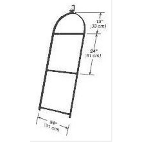 Altman Three Rung Light Ladder with Heavy Duty Clamp
